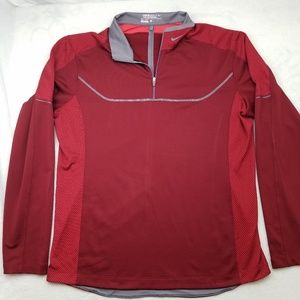 Nike Golf Tour Performance Red Pullover Large
